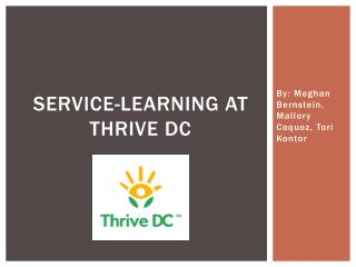 Service-learning at thrive dc