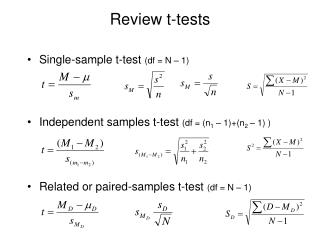 Review t-tests