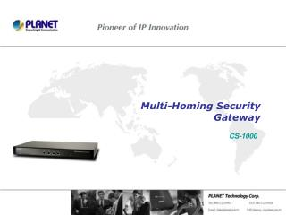 Multi-Homing Security  Gateway