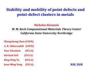Stability and mobility of point defects and point-defect clusters in metals