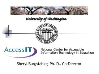 National Center for Accessible Information Technology in Education