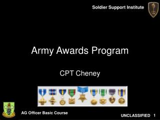 Army Awards Program