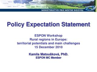 Policy Expectation Statement