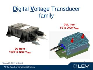 D igital V oltage Transducer family