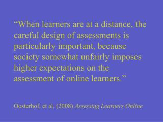 Assessing Online Instruction at  Carteret Community College
