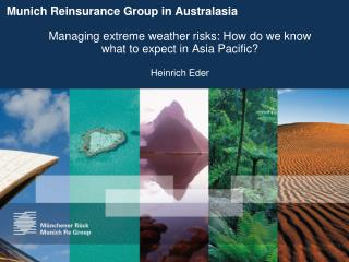 Munich Reinsurance Group in Australasia