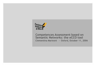 Competences Assessment based on Semantic Networks: the eCCO tool