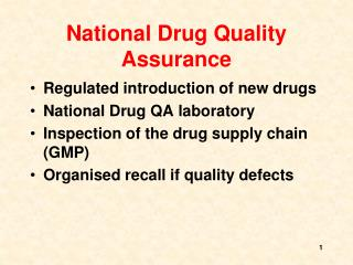 National Drug Quality Assurance