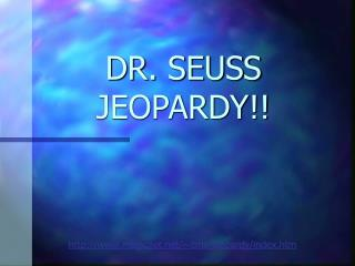 DR. SEUSS JEOPARDY!!