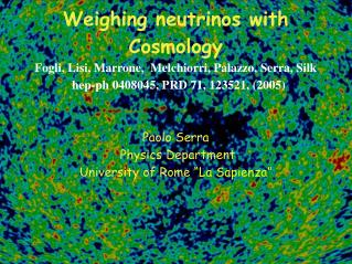 Weighing neutrinos with Cosmology