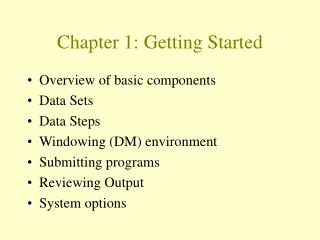 Chapter 1: Getting Started