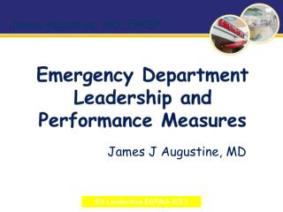 Emergency Department Leadership and Performance Measures