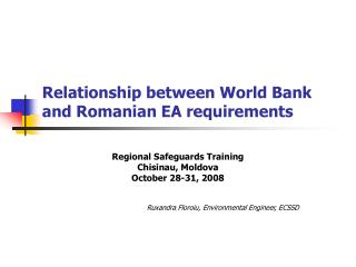 Relationship between World Bank and Romanian EA requirements