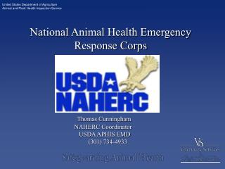 National Animal Health Emergency Response Corps