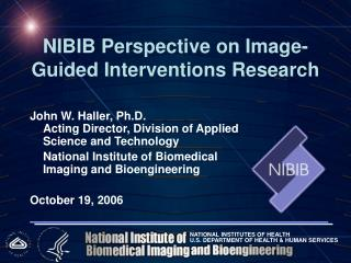 NIBIB Perspective on Image-Guided Interventions Research
