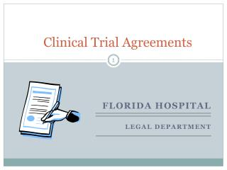 Clinical Trial Agreements