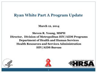 Ryan White Part A Program Update