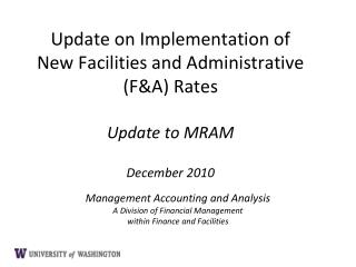 Management Accounting and Analysis A Division of Financial Management