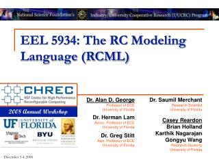 EEL 5934: The RC Modeling Language (RCML)