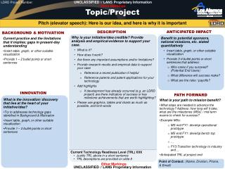 Topic/Project