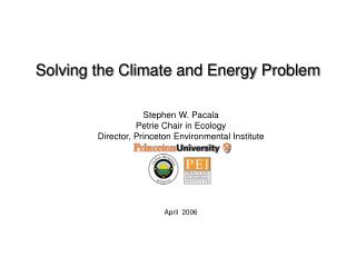 Solving the Climate and Energy Problem
