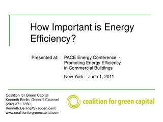 How Important is Energy 	Efficiency?