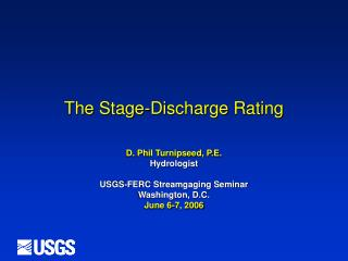 The Stage-Discharge Rating