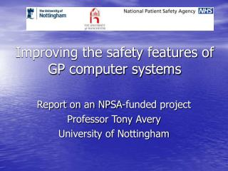 Improving the safety features of GP computer systems