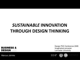 Sustainable  Innovation through Design Thinking