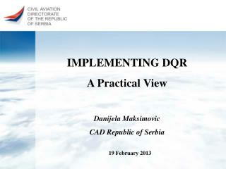 IMPLEMENTING DQR  A Practical View