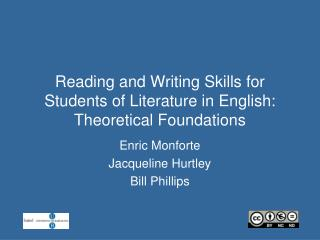 Reading and Writing Skills for Students of Literature in English: Theoretical Foundations