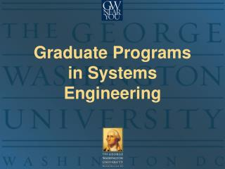 Graduate Programs  in Systems Engineering