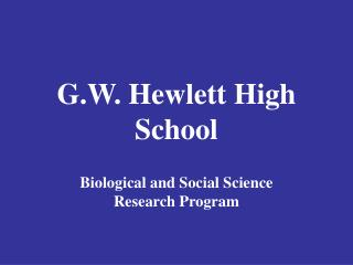 G.W. Hewlett High School