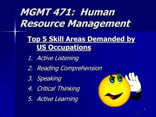 MGMT 471:  Human Resource Management