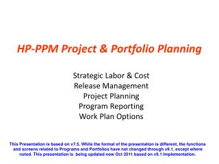HP-PPM Project & Portfolio Planning