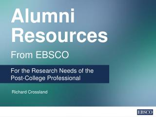 Alumni Resources From EBSCO