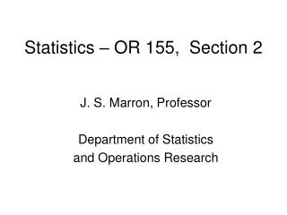 Statistics – OR 155,  Section 2