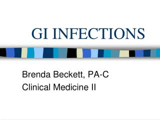 GI INFECTIONS