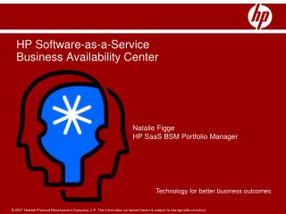 HP Software-as-a-Service Business Availability Center