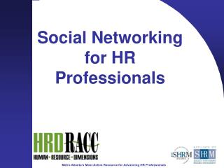 Social Networking for HR Professionals