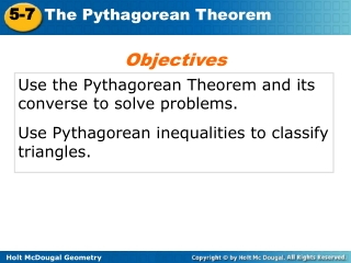 The Pythagorean Theorem And Triples