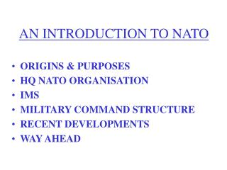AN INTRODUCTION TO NATO