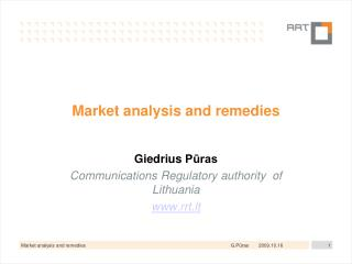 Market analysis and remedies