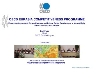 OECD Private Sector Development Division OECD Eurasia Competitiveness Programme