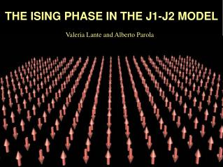 THE ISING PHASE IN THE J1-J2 MODEL