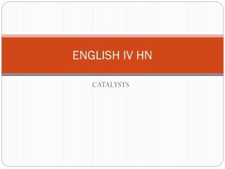 ENGLISH IV HN