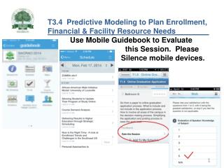 T3.4  Predictive Modeling to Plan Enrollment,  Financial & Facility Resource Needs________