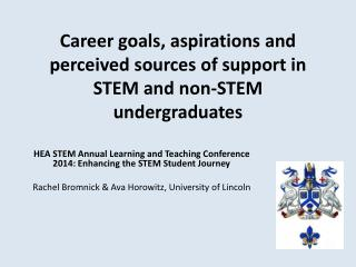 Career goals, aspirations and perceived sources of support in STEM and non-STEM undergraduates