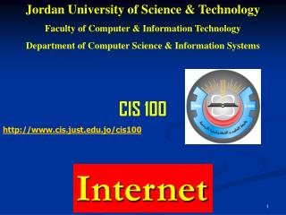Jordan University of Science & Technology Faculty of Computer & Information Technology