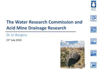 The Water Research Commission and Acid Mine Drainage Research